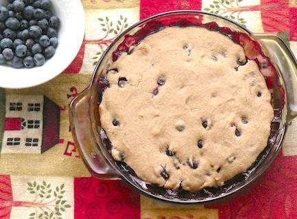 Vegan blueberry or blackberry cobbler