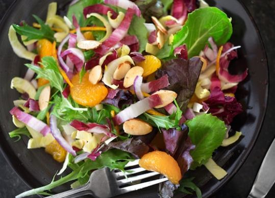 Spring greens with endives and oranges2