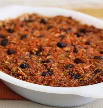 Passover Carrot Apple Raisin Pudding