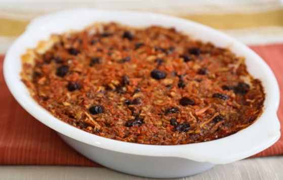 Passover Carrot Raisin Pudding