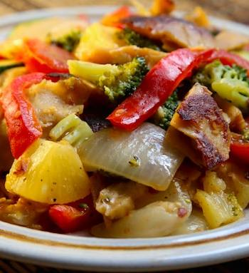 Sweet and Sour Seitan and Vegetables