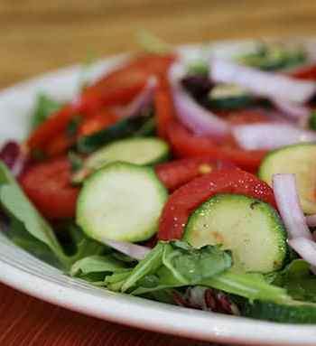 Tomato, Zucchini, and Red Onion Salad