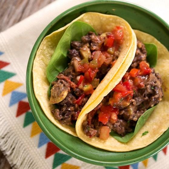 Black bean and squash soft tacos recipe
