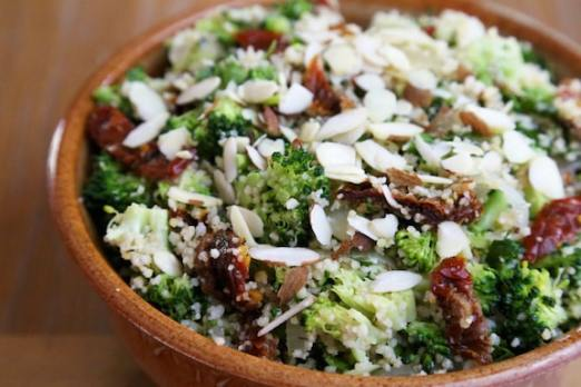 Lemony couscous with broccoli recipe