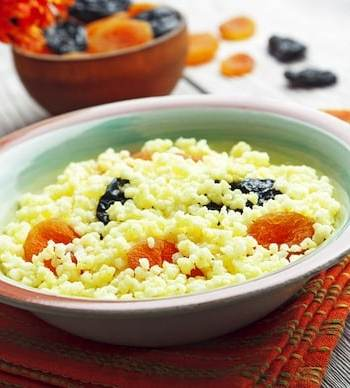 Millet in a bowl