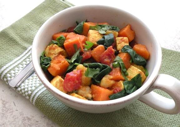 Easy Curried Sweet Potatoes and Tofu