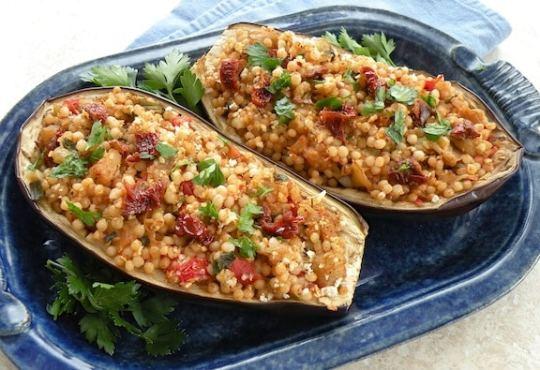 Couscous-Stuffed eggplant recipe