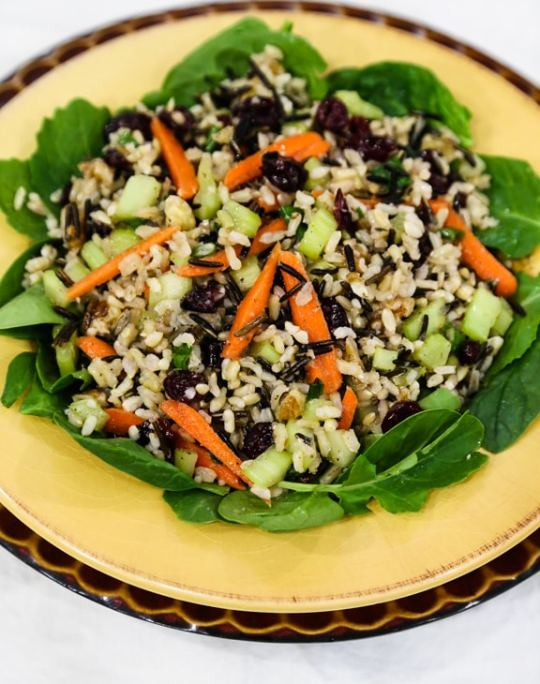 Wild rice salad with cranberries and walnuts recipe