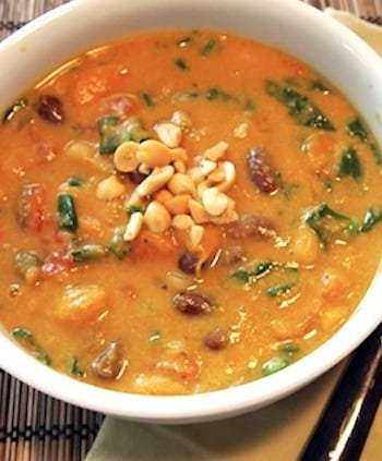 Curried pumpkin-peanut soup
