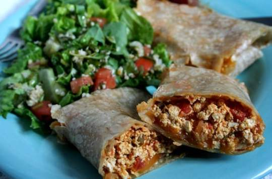 scrambled tofu burrito for lunch or dinner