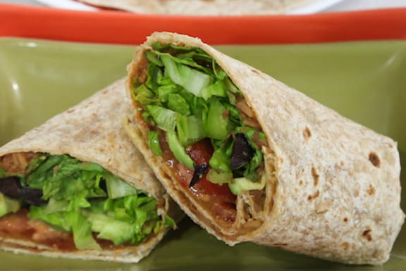 Cool Refried Bean Wraps