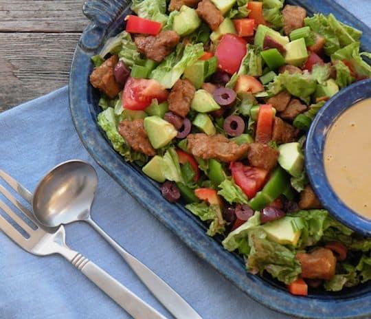 Hearty Seitan salad recipe