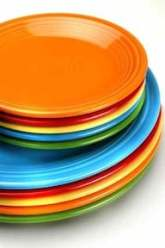 colorful dinner plates