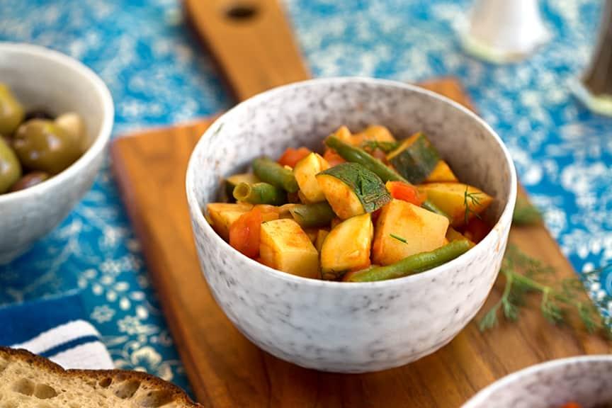 Greek potato stew recipe