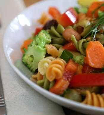Tricolor pasta vegetable salad reciipe