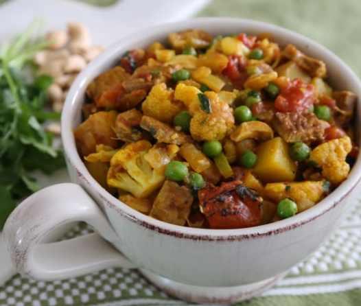 Cauliflower Tempeh Curry recipe