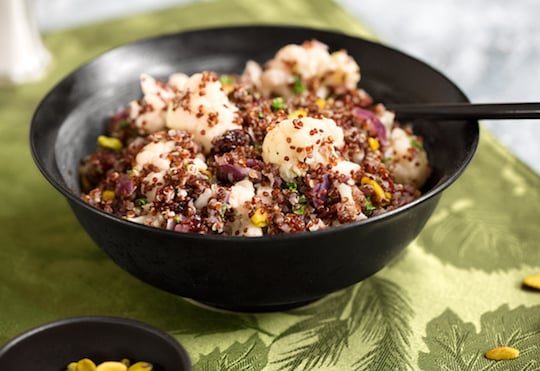 Quinoa Pilaf with Cauliflower and nuts