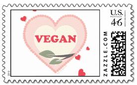 Big city vegan stamp
