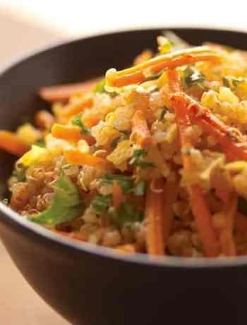 Quinoa_Spicy Quinoa-Carrot Slaw