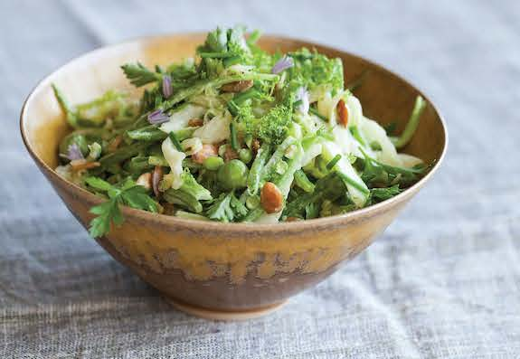 All Green Spring Slaw by Bryant Terry from Afro-Vegan