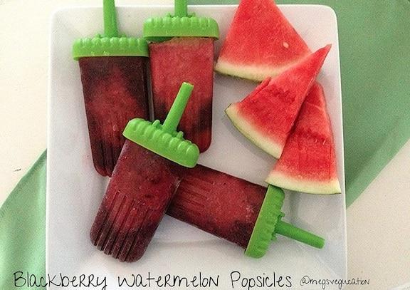 blackberry watermelon ice pops