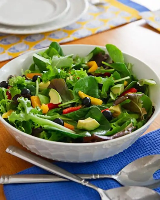 Mixed Greens Salad with Avocado and Blueberries recipe