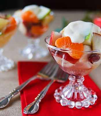 Gingered winter fruit medley