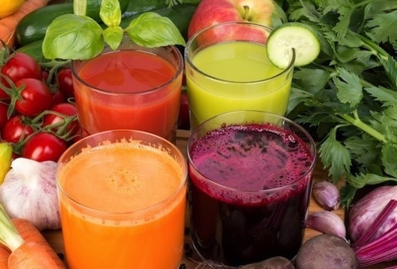 Vegetable juice, tomato, carrot, cucumber and beet