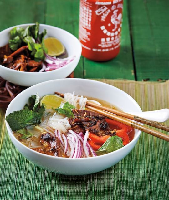 Lemongrass Noodle Bowl with Mock Duck