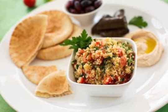 quinoa tabbouli platter
