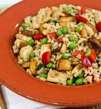 Peanut Rice and Tofu