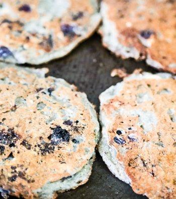 Vegan Blueberry-Oat Pancakes