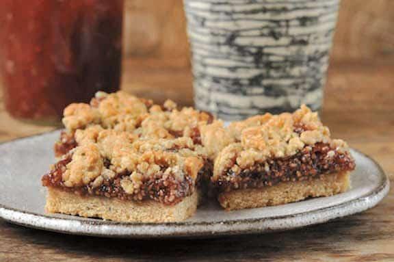 Sesame Berry Squares