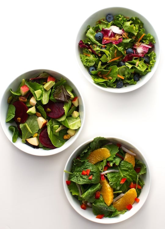 mixed greens salads