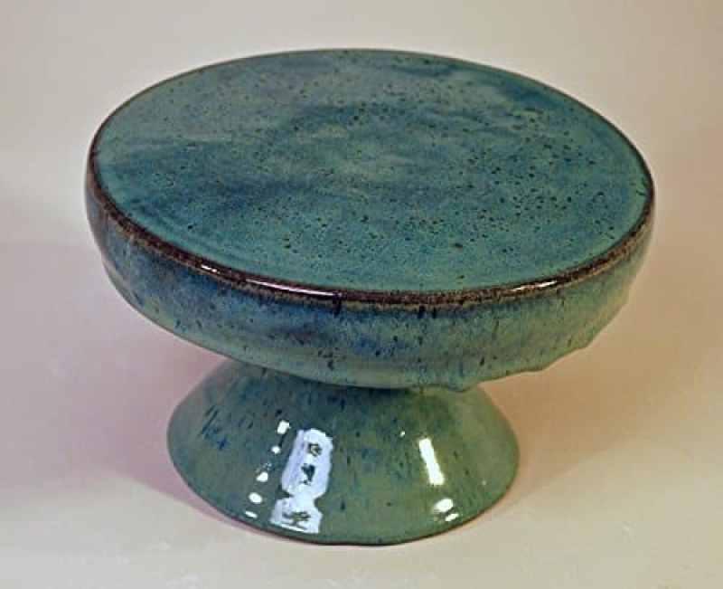 blue green cake plate handmade kitchen gifts