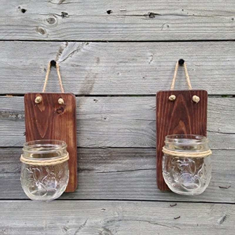 tennessee wick two mason jar wall sconce handmade kitchen gifts