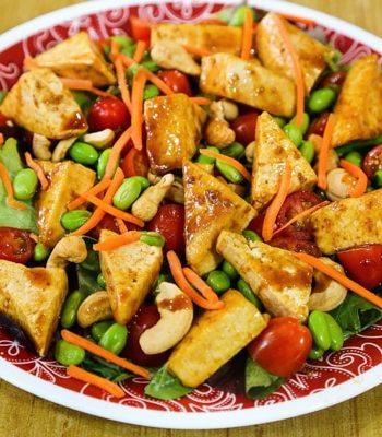 Tofu teriyaki salad