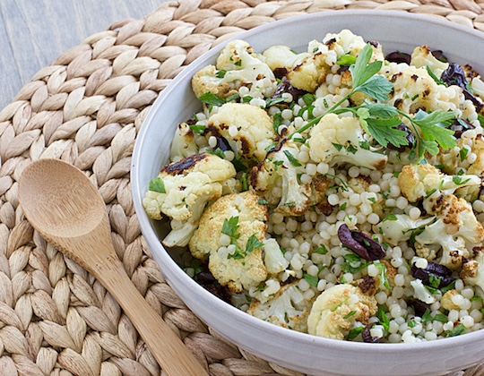 Warm Cauliflower and Israeli Couscous Salad