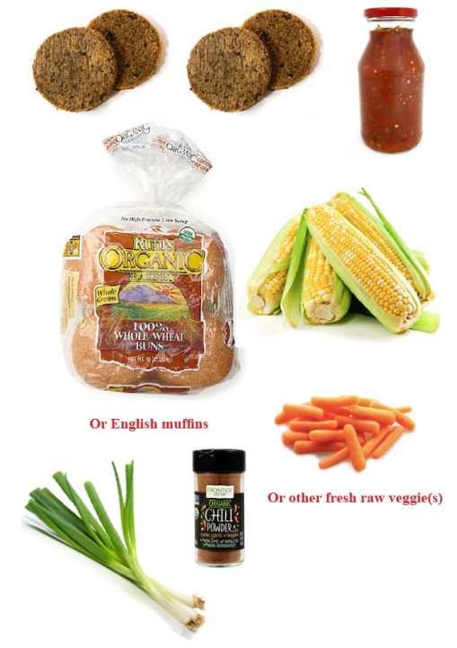 Vegan Sloppy Joes dinner ingredients