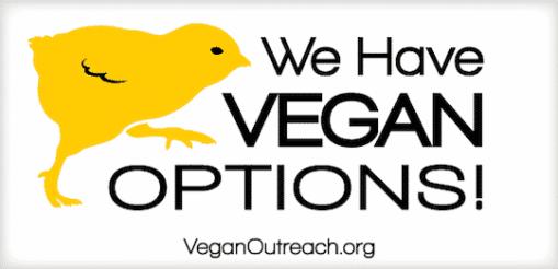 Vegan outreach bumper sticker