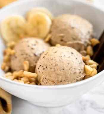 Banana peanut butter chocolate ice cream