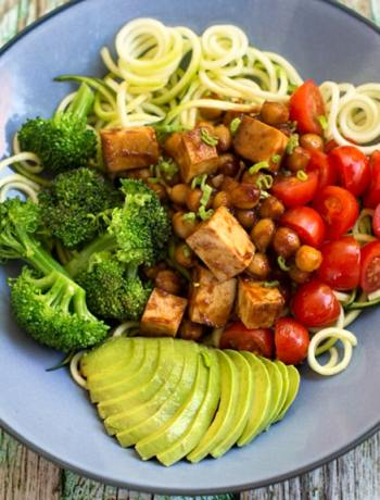 BBQ tofu and chickpea bowl