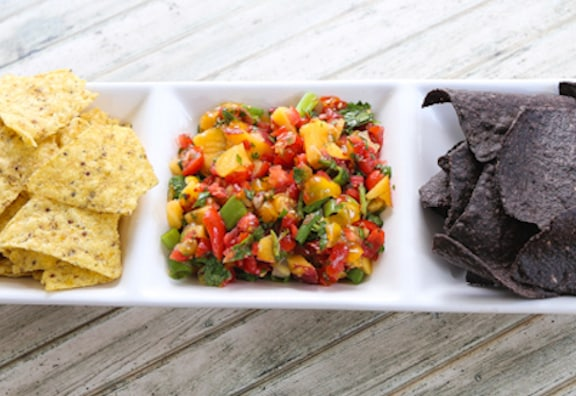 Cherry tomato & Peach salsa