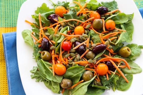 No-chop power greens salad