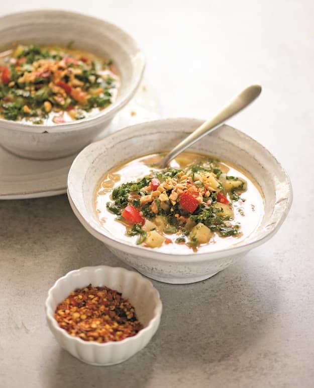Peanut Kale Soup - China Study Cookbook