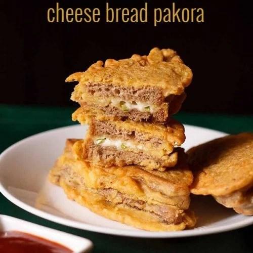 Cheese Bread Pakora Recipe, Bread Pakora Recipe with Cheese Stuffing