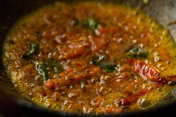 tomatoes sautéed for dal fry recipe