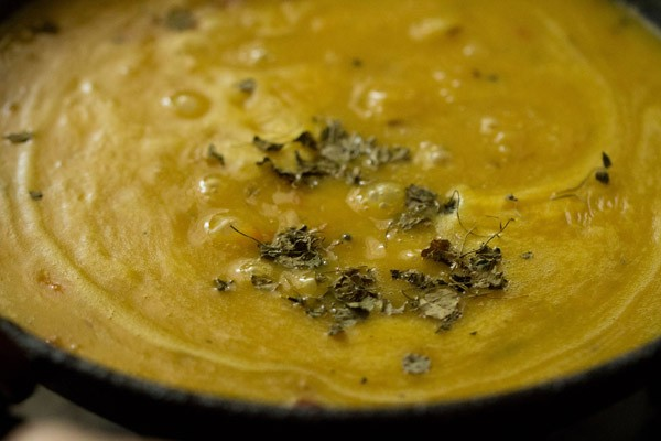 kasuri methi for dal fry recipe