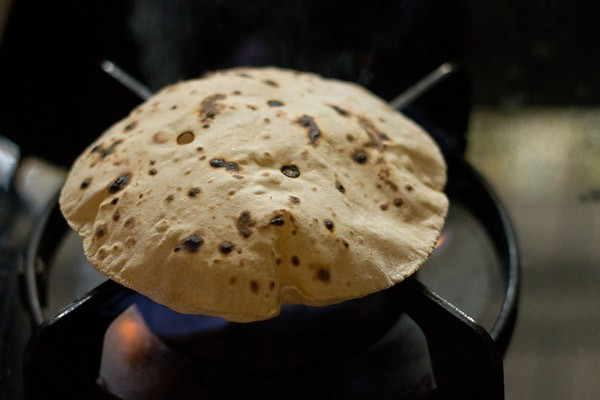 puffed up soft rotis or phulkas