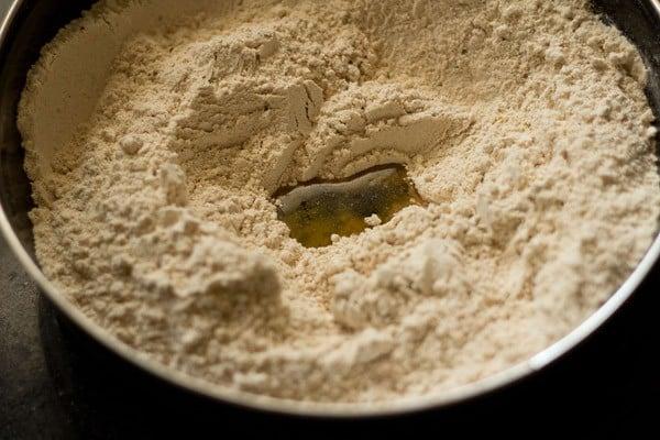add oil to make masala poori dough